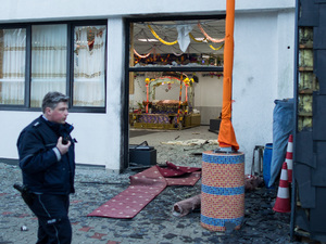 German police searching for masked man after blast at Sikh temple
