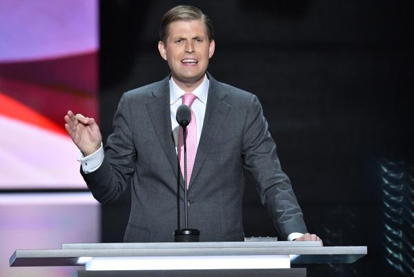 Eric Trump lauds father's business sense