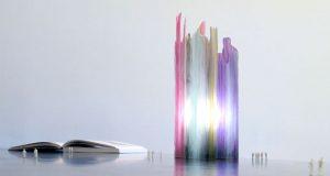 Painterly Spectrum Resin Table Lamp by Taeg Nishimoto