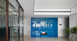 waterfrom design abstracts colorful fashion motifs in taiwanese home